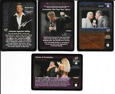 WWE RAW DEAL - 4X Card Vince McMahon LOT *FREE SHIPPING* FOILS