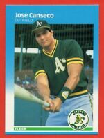 1987 Fleer Glossy Set Break #389 Jose Canseco MINT+ Oakland A's FREE SHIPPING