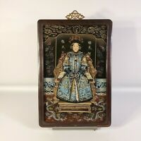 VINTAGE CHINESE EMPRESS REVERSE GLASS PAINTING