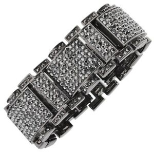 ICED Bling Hip Hop Diamond Bracelet - RICK black