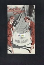 AMERICAN AIRLINES INC A.O.A. WELCOME ABOARD BROCHURE 1948 ALL ABOUT FLIGHT & AA