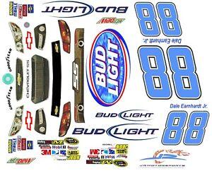 #88 Dale Earnhardt Jr, Bud Light 1/24th Scale  Peel N Stick Tear Proof Vinyl
