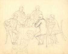 Antique (Pre-1900) Figures Art Drawings