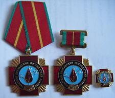 3 RUSSIAN CHERNOBYL LIQUIDATOR MEDALS/BADGE. CHERNOBIL.PRIRYAT.USSR