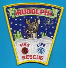RUDOLPH WISC WIS WI FIRE DEPT LIFE EMS RESCUE ONE OF SANTA CLAUS RAIN DEER RFD