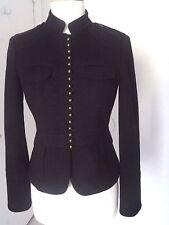 J CREW Bella Black 100% Wool Jacket Coat Rare And HTF Military Elegant fitted 4