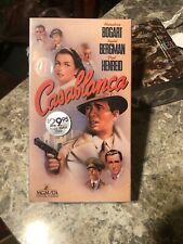 Casablanca Vhs Humphrey Bogart Ingrid Bergman Paul Henreid Mgm Ua Home Video New