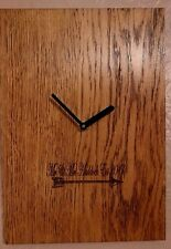 Personalised Mr and Mrs Engineered Oak Wall Clock - Weddings - Anniversary's