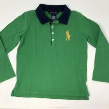 Ralph Lauren Boys Size 6 Polo Shirt large pony Green long sleeve