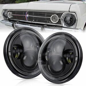 """Pair 7"""" inch Headlight For Holden HD HR HJ HK HT HG HP HQ HX HZ Kingswood Monaro"""