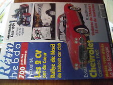 µ? Revue Retro Hebdo n°90 Locomobile Case 1909 Chevrolet Corvette 1962