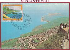 ITALIA MAXIMUM MAXI CARD ROMA 636 PALMI RC SCOGLIO DELL'OLIVO 1987 B378