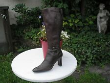 M&S SMART DISTRESSED LEATHER BOOTS GOOD LEG+FOOT WIDTH