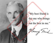 8.5x11 Autographed Signed Reprint RP Photo Henry Ford Quote