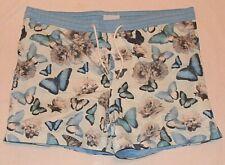 Thomas Royall Smart Men's Butterflies Patterned Drawstring Swim/Beach Shorts