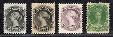 1860 Canada Nova Scotia SC 8, 8a, 9 & 11 Queen Victoria, Lot of 4 - MNH