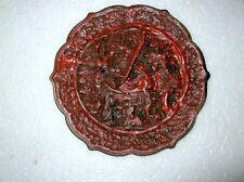 18TH -19TH CENTURY CINNABAR LACQUER DISH