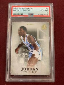 Michael Jordan 2012 Upper Deck SP Authentic PSA 10 Gem Mt Chicago Bulls