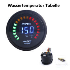 52mm Car Water Temp Temperature Gauge NPT 1/8 Sensor Thread LED Digital display