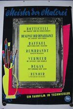 Poster 20th century-fox Meister der Malerei 50er Jahre Wochenschau Plakat Techni