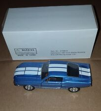 NATIONAL MOTOR MUSEUM MINT FORD 1967 SHELBY MUSTANG BLUE 1:32