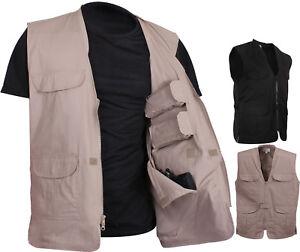 Professional Tactical Concealed Carry Vest Cargo Travel Plainclothes Gun CCW