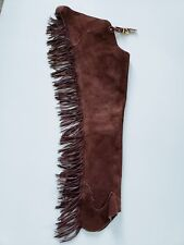 SHOWTIME DARK BURGUNDY CHAPS SIZE SMALL ADULT