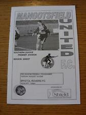 01/08/2006 Mangotsfield United v Bristol Rovers [Friendly] . Item In very good c