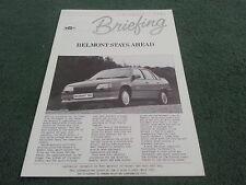March 1988 Vauxhall BELMONT BRIEFING BROCHURE inc SRi - V7051 - Astra