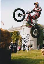 Dougie LAMPKIN Signed 12x8 Photo GOODWOOD Champion Rider AFTAL COA Autograph