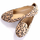 New Womens Ladies Fashion Flats Shoes Leopard Printing Casual Loafers Moccasins