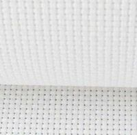 "Free S&H white wholesale 14 count aida cloth cross stitch fabric 59""x 1 yard"