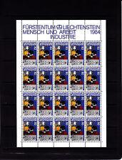 Liechtenstein Series courantes l'homme et le travail 80 r feuille 20 TP n° 798