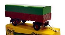Dan-Toys Remorque 4-Roues Rouge avec Bâche Verte 500 Ex.DAN 033