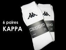LOT DE 6 PAIRES DE CHAUSSETTES KAPPA sport blanc coton