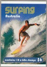 2013 AUSTRALIAN STAMP BOOKLET SURFING AUSTRALIA 10 x 60c STAMPS MUH