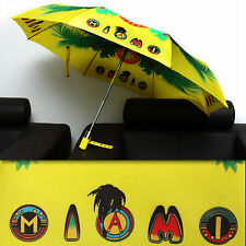 "$425 GIANNI VERSACE ""MIAMI"" AUTOMATIC UMBRELLA w/ Certificate"
