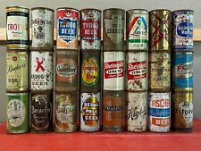 Lot of 24 Vintage Flat Top Beer Cans