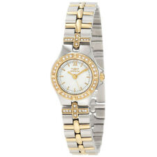 Invicta 0133 Women's White Dial Two Tone Bracelet Crystal Watch