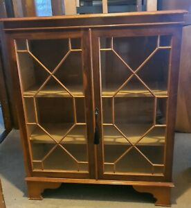Glazed cabinet Bookcase with key upcycle project