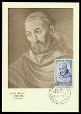 FRANCE MK 1953 SAINT BERNHARD ABT THEOLOGE CARTE MAXIMUM CARD MC CM aw81