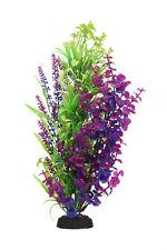 Planta de plástico AquaManta-Azul Bacopa/estrecha Ludwigia (40 Cm)