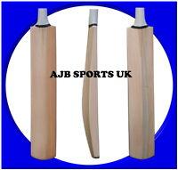 5 X Senior Custom Plain Hand Made English Willow Cricket Bat +Extras