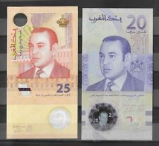 DEAL: Morocco banknotes 2 commemorative notes P-73  25 dhs & P-New 20 dhs -UNC**