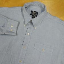WILLIS & GEIGER OCBD Light Blue Action Back Oxford Safari Shirt 16.5 36 Tall EUC