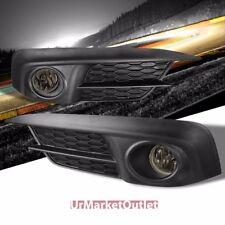 Smoke Len Front Bumper Fog Light Lamp w/Bezel+Bulb+Switch For 16+ Civic 2/4DR FC