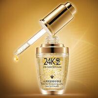 24K Gold Essence Cream Repair Collagen Liquid Anti Wrinkle Aging Face Skin Care