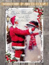 """25 Weihnachtskarten """"Christmas Friend"""" Postkarte 17,5 x 12 cm mit Lackveredelung"""