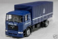 MAN TRUCK POLIS POLICE Diraja Malaysia PDRM 109 DIECAST BLUE Color Truck 1:64