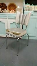 Vintage Retro  kitchen chair mid century  chrome frame : Vinyl needs repair